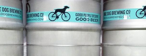Custom Shaped Keg Wraps from Bike Dog Brewery