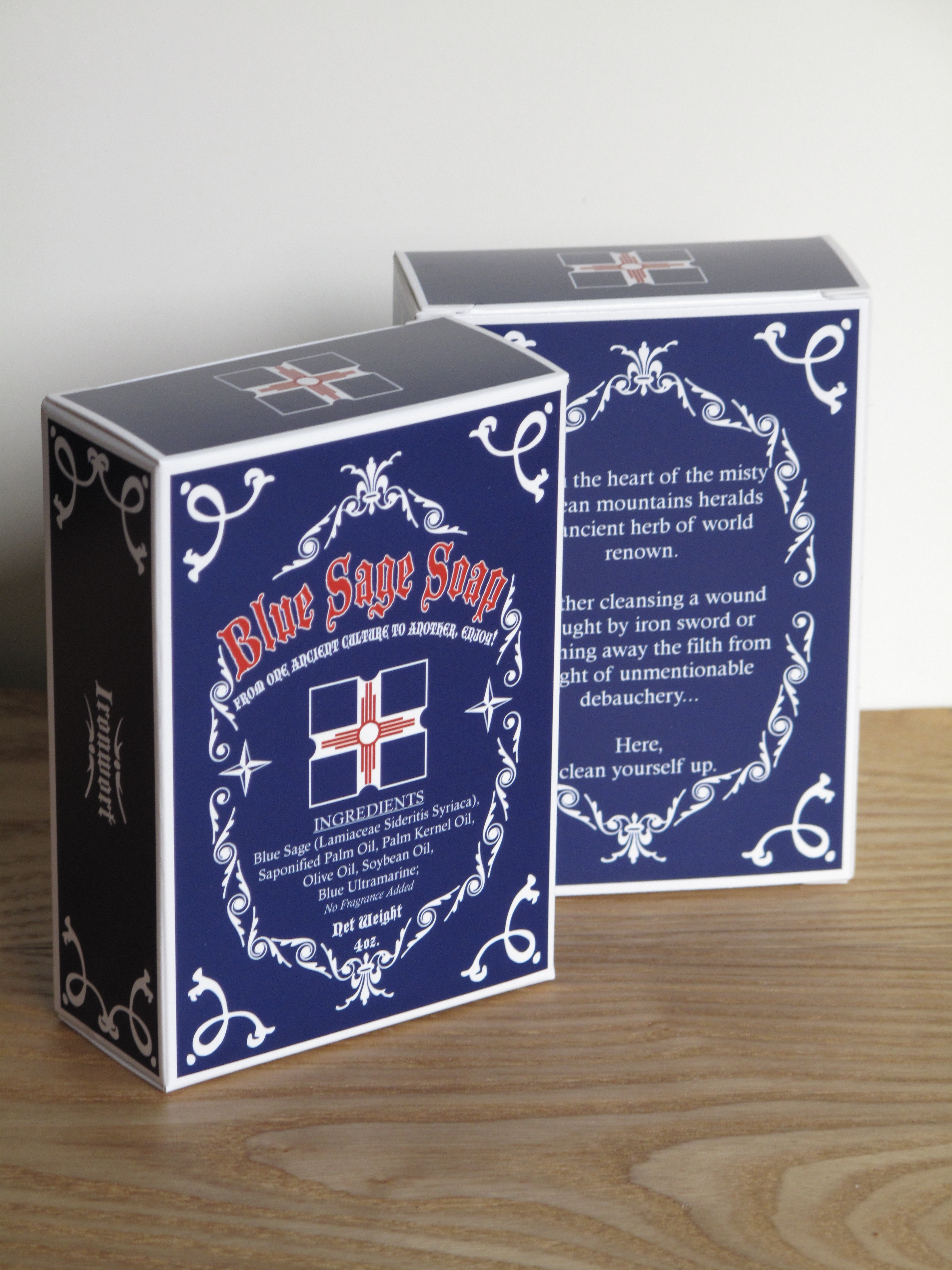 Blue Sage Soap Boxes from YourBoxSolution.com
