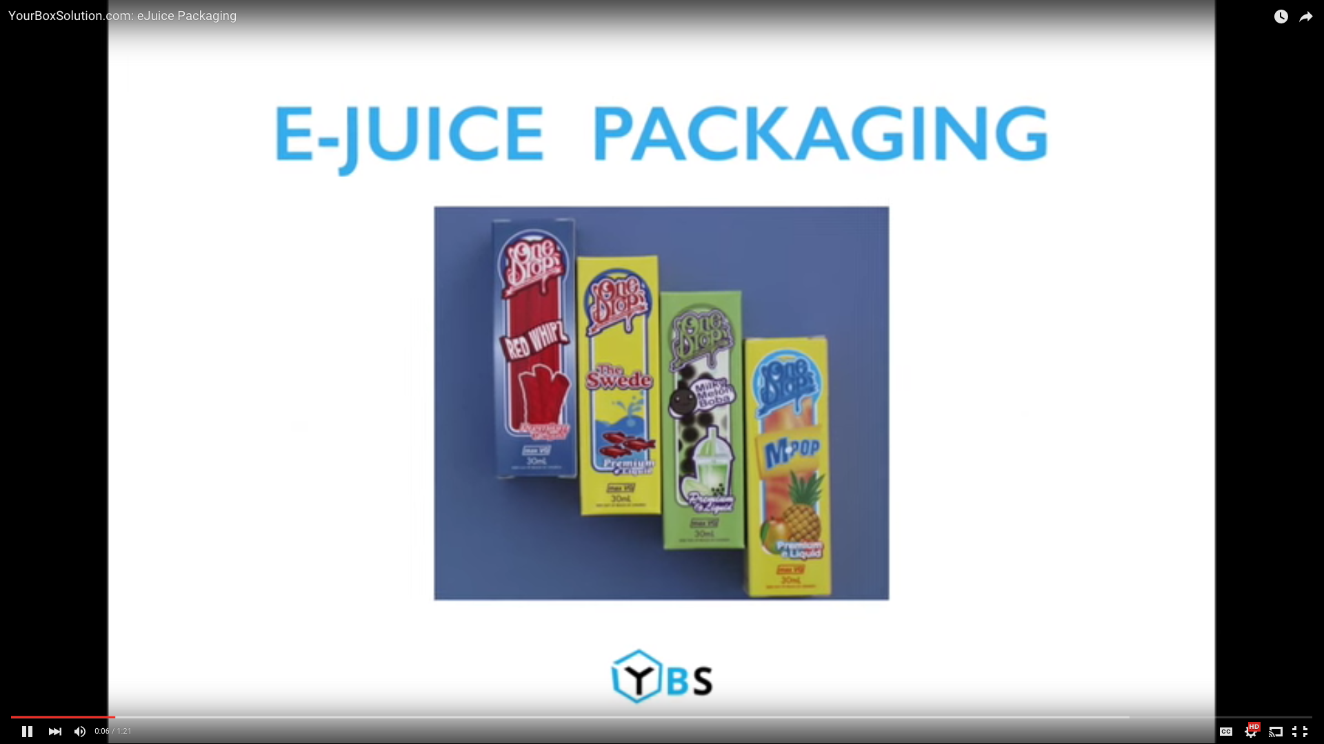 eJuice Packaging from YourBoxSolution.com