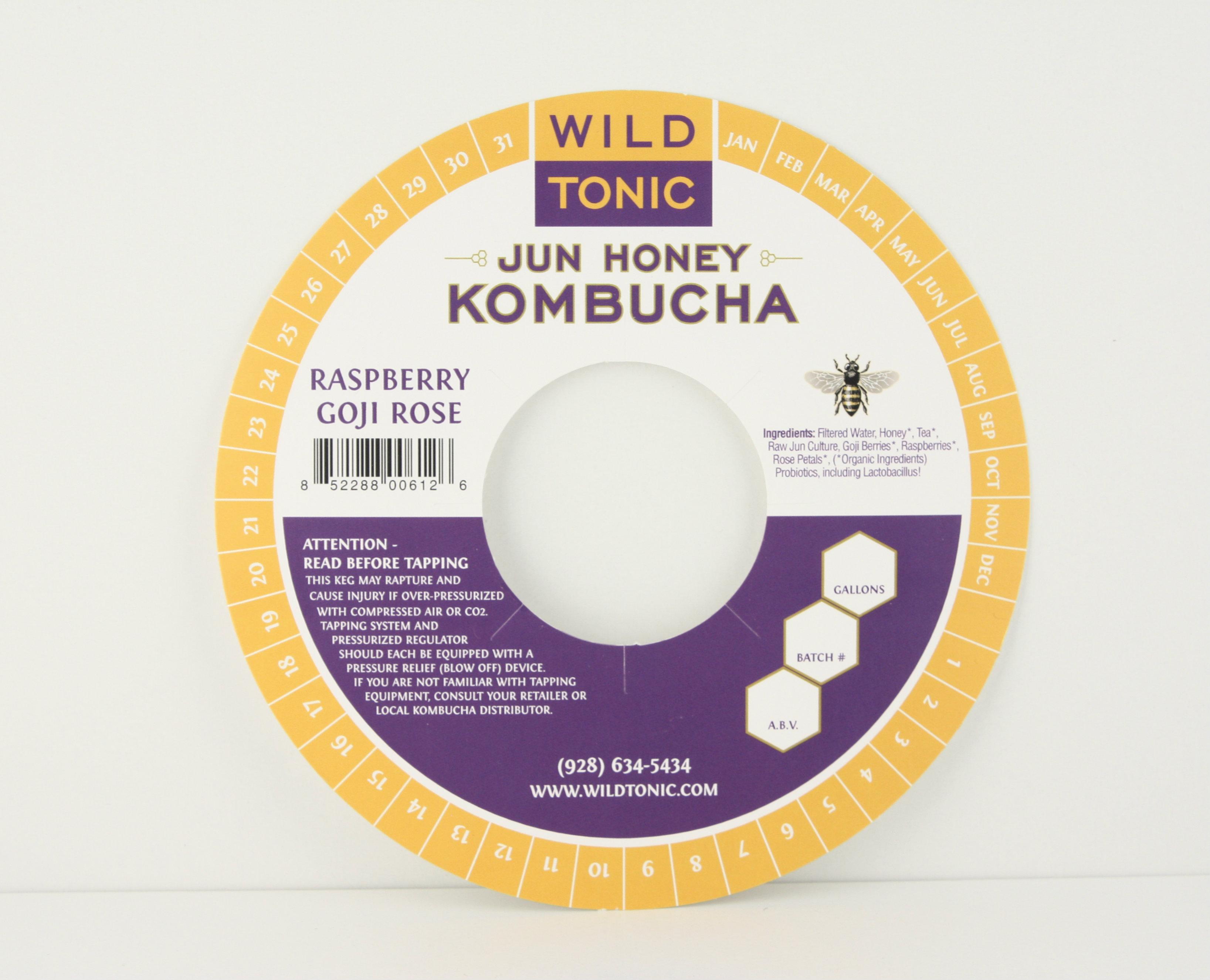 Keg Collar for Wild Tonic Kombucha from KegCollars.net